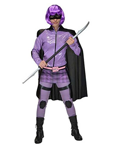 Kick Ass Costume, Womens Hit Girl Superhero Outfit, Medium, BUST 39