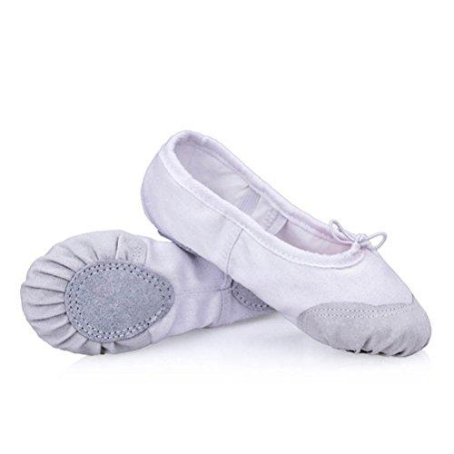 ARAUS Filles Chaussures de Ballet Demi Pointes en Toile enfant Chaussures de Danse Yoga Gym Tailles22-41
