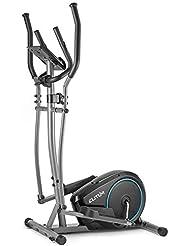 ELITUM Vélo elliptique MX350 - Capteurs de la fréquence Cardiaque - Poids d'inertie 10kg - Max.125kg - Système de freinage magnétique