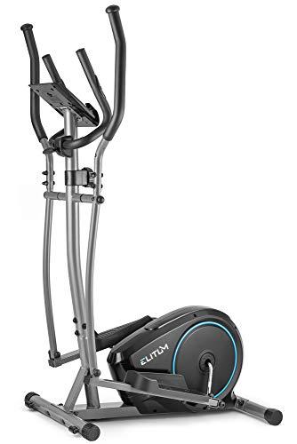 Elitum Crosstrainer MX350 Ellipsentrainer Heimtrainer inkl. Pulsmessung Computer Schwungmasse 10kg Benutzergewicht 125kg Magnet-Bremssystem (Schwarz)
