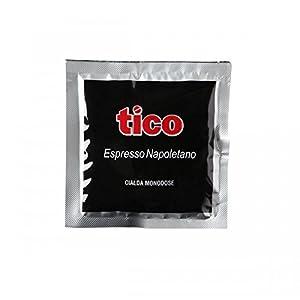 Caffè espresso Tico Qualità Nera, kit 50 cialde