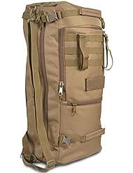 45L 60L Impermeable Gran Capacidad Militar Táctico al Aire Libre Bolsa de Hombro Senderismo Cámping Viajes de Excursión Bolsa Mochila de Escalada (marrón, 60L)