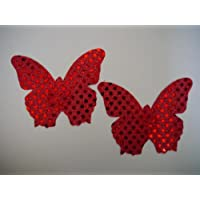 4 x Set Pink Red Butterfly Burlesque Nipple Covers Tassels Pasties Funny