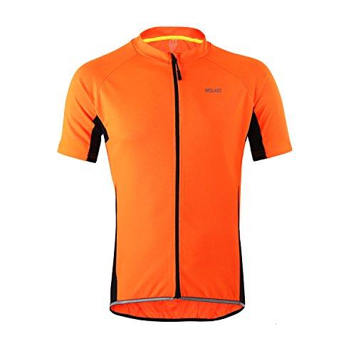 M.Baxter Fahrradtrikot Kurzarm Herren Fahrrad Trikot Funktionsshirt Sportshirt Bike T-shirt Fahrradbekleidung Radsport Kurzarmshirt für Frühling und Sommer (T-shirt Gelb Fahrrad)