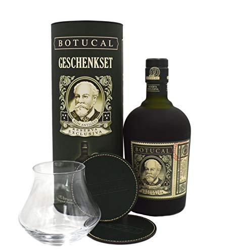 Botucal Rum Geschenkset (1x Botucal 0,7l + 1 Glas + 2 Untersetzer)
