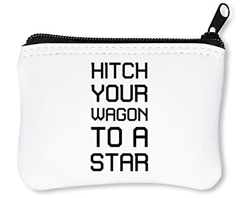 A Waldo Emerson Motivation Inspiration Quote Reißverschluss-Geldbörse Brieftasche Geldbörse ()