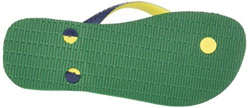 Havaianas Brasil Mix 4123206, Infradito Unisex – Adulto Multicolore (Green/Navy Blue 9621)