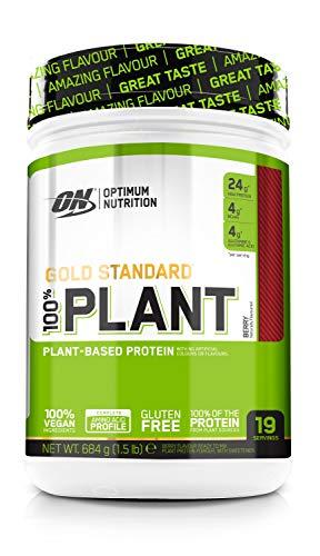 Optimum Nutrition Gold Standard 100% Plant- ON Vegan Protein Pulver (mit Eiweiß aus 100% pflanzlichen Quellen) Berry Eiweißpulver, 19 Portionen, 640g buy at Amazon.de