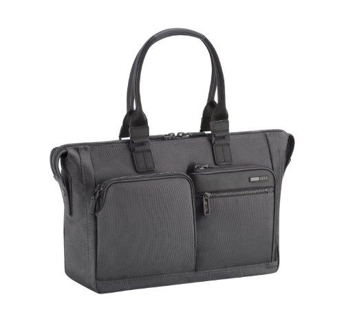 zero-halliburton-zest-double-front-pocket-tote-black-one-size
