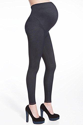 Legging jean femme enceinte 200 deniers Bleu / Turquoise