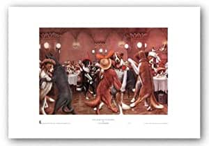 New Year's Eve in Dogville von C.M. Coolidge Kunstdruck