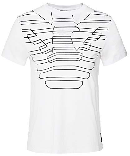 Armani Herren Crew-Nacken-Logo T-Shirt L Weiß