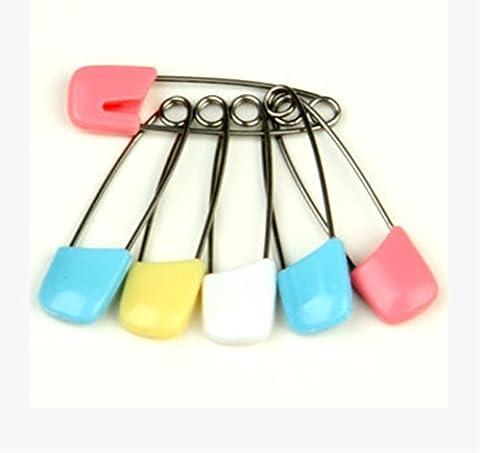 Sunny Ju en acier inoxydable broches de sécurité Boutons Pression épingles Multicolore Lot de 12