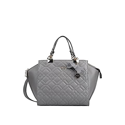 GUESS, Damen Handtaschen, Umhängetaschen, Henkeltaschen, Trapez-Bags, Grau, 41 x 26 x 12 cm (B x H x T)