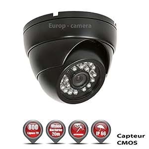 Mini Dôme Anti-Vandal 800 Lignes 1/3 Capteur CMOS ETANCHE IR 20M / REF : EC-DCM800 - Caméra de Vidéo surveillance - vidéo surveillance
