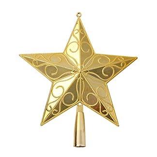 STOBOK-Weihnachtsbaum-Stern-Spitze-Christmas-Tree-Topper-20cm-Weihnachtsstern-Christbaumspitze-Baumschmuck-Gold