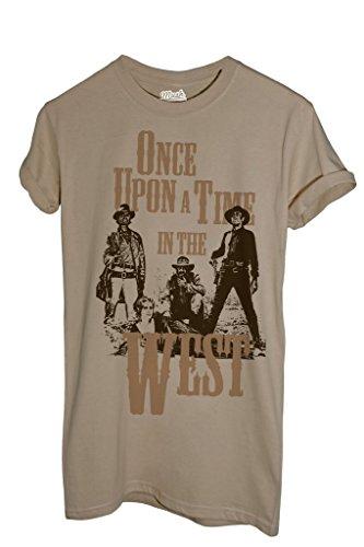 Club Lieder (T-Shirt Spiel Mir Das Lied Vom Tod Leone Morricone - FILM by Mush Dress Your Style - Herren-XXL-Beige)