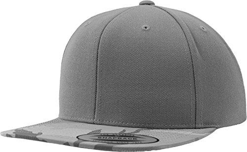Flexfit Camo Visor Snapback Kappen, Silver, one Size -
