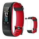 YAMAY Fitness Armband mit Pulsuhr,Wasserdicht IP68 Schrittzähler Fitness Uhr Farbbildschirm Fitness Tracker Pulsmesser