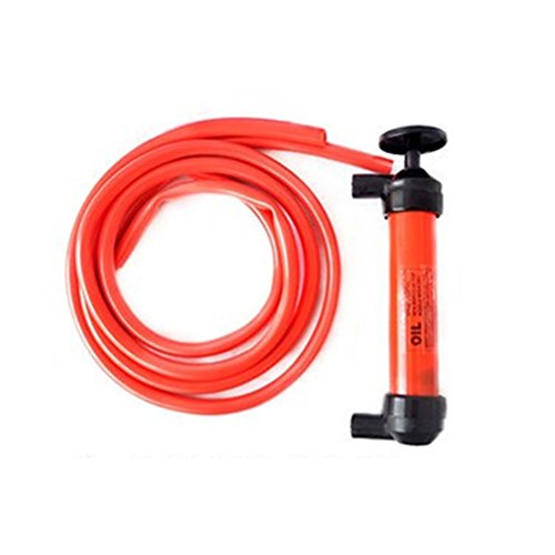 Jet-pumpe öl (UEETEK Flüssige Übertragung Pumpe aus Kunststoff Siphon Fluid Transfer Pumpe Set Sucker Pumpe Fahrzeug Handpumpe für Öl-Gas-Flüssig)