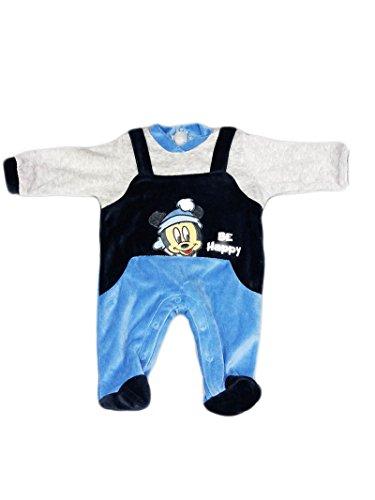 Arnetta tutina ciniglia bimbo neonato disney baby mickey azzurro taglia 6mesi