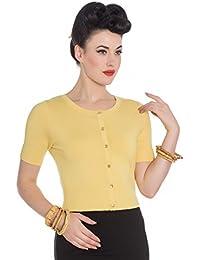 Hell Bunny Yellow Wendi Vintage Style Cardigan