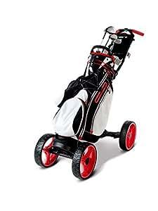EasyPal 4-Wheel - Auto Power-Folding Golf Trolley -Black-EU-Version