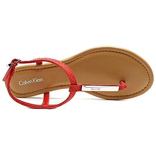 Calvin Klein Samina Cuir Sandale red
