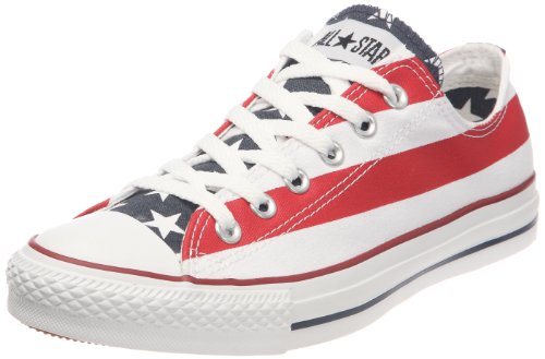 Converse All Star Sneaker a collo basso, Uomo, Multicolore (Stars Bars), 37 EU (4.5 UK)