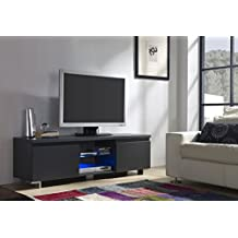 Mueble TV de 2 puertas en color Gris Antracita con LED