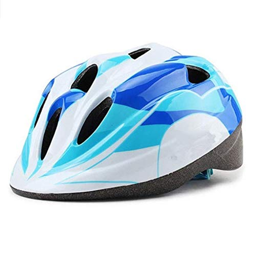 Fahrradhelm, Teen Skates, Kinder-Skating-Helm, Outdoor-Sportarten Air Sports Safety Helm (Color : Blue, Size : M)