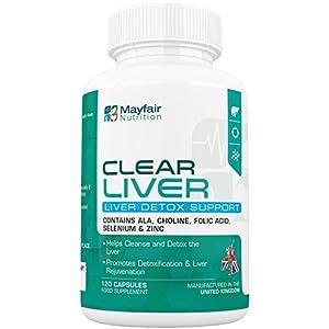 Clear Liver Cleanse | Premium Entgiftung, Unterstützung und Pflege mit Chrom, Selen und Grünkohl | 120 Kapseln für eine 2 Monatskur