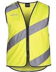 """'WOWOW """"Roadie Chaleco reflectante Chaleco de seguridad con LED en la espalda"""