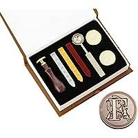 YPSelected Vintage A-Z 26 Alfabeto Letras Iniciales Sellado cucharas de Cera Velas Sello Sello Conjunto con Caja de Regalo (Letter F)
