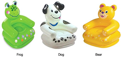Intex Inflatable Teddy Frog Dog Animal Kiddies Chair Sofa for Kids Baby Children Upto 8 Years 65CM X 64CM X 74C (Any One Color)