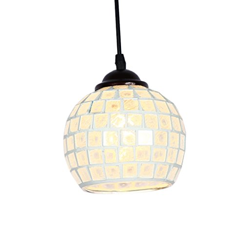 Baoblade Baoblaze Vintage Hanging Light Mosaic Design Pendant Ceiling Lampshade Stained Glass - 2#, as described