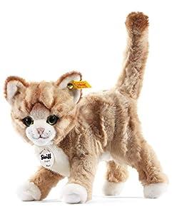 Steiff 099342 - Mizzy, Peluche Gato pie (25 cm), Color marrón Claro