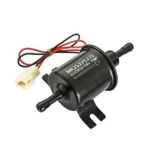 MOSTPLUS 12V HEP-02A Universal elektrische Kraftstoffpumpe Benzinpumpe Niederdruck Dieselpumpe 8mm