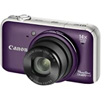 Canon PowerShot SX220 HS Digitalkamera (12 Megapixel, 14-fach opt. Zoom, 7,6 cm (3 Zoll) Display, Full HD, bildstabilisiert) purpur