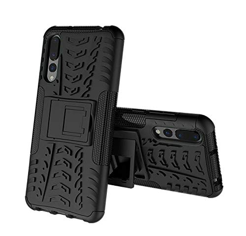 FABUCARE Back Cover for Samsung Galaxy A7 (2018) Back Cover Hybrid Kick Stand Case - Black