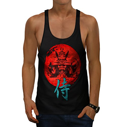 japonais-rouge-symbole-asiatique-homme-nouveau-noir-xl-gym-reservoir-sommet-wellcoda
