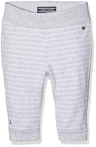 Tommy Hilfiger Unisex Baby Hose Striped Jersey Knit Pant, Grau (Light Grey Htr 023), 62 (Knit Jersey Pants)