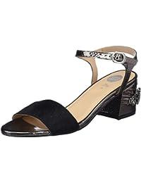 Gioseppo 44123, Zapatos de Tacón con Punta Abierta para Mujer, Negro (Black), 41 EU
