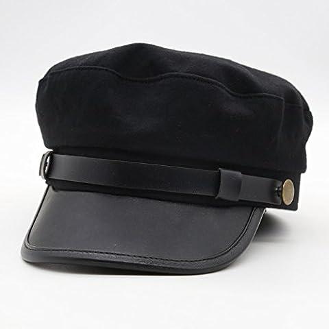 Dngy*L'autunno e inverno Stetson hat caubeen navy small cap retrò uomini berretti ,56-58cm- nero