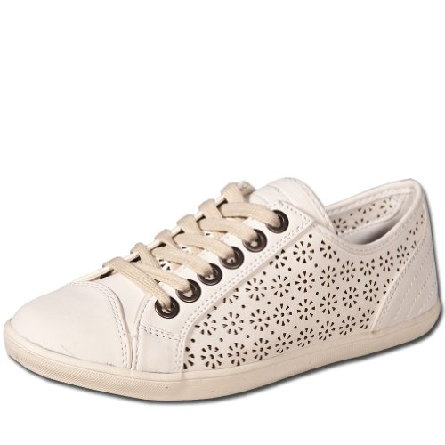 Basic by 002 , Low-top femme Blanc - Blanc