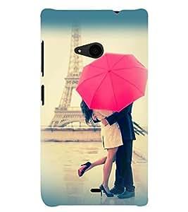 Printvisa Love Couple Under an Umbrella Back Case Cover for Nokia Lumia 535::Microsoft Lumia 535