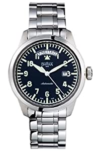 Davosa Men's Automatic Watch with Black Dial Analogue Display and Silver Stainless Steel Bracelet 16143150