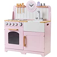 Tidlo Wooden Country Play Kitchen (Pink)