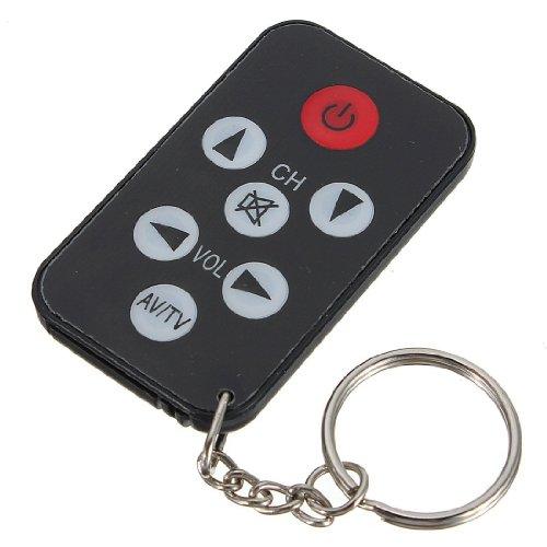 Schwarz Universal Mini Infrarot IR TV Fernbedienung mit Schlüsselring Infrarot-tv