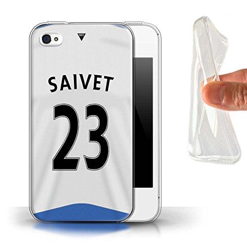 Offiziell Newcastle United FC Hülle / Gel TPU Case für Apple iPhone 4/4S / Pack 29pcs Muster / NUFC Trikot Home 15/16 Kollektion Saivet